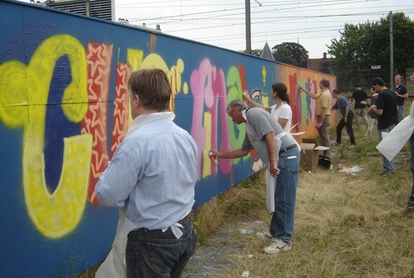 Graffiti company outing Rabobank (2005)