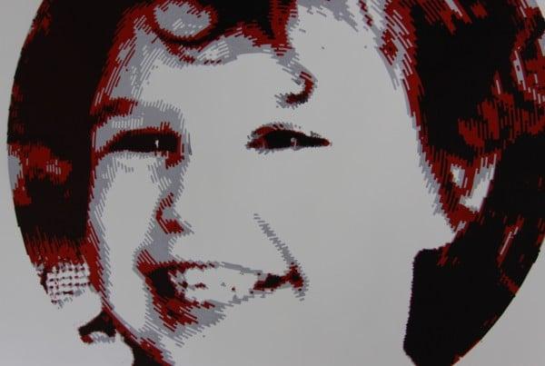 Penstripe-art portret