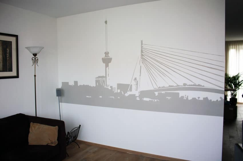 Rotterdam silhuet maleri
