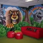Pintura de graffiti en vivero
