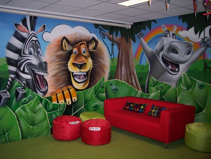 Graffiti-Malerei im Kinderzimmer