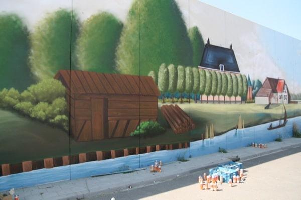 N57 muurschildering op nieuwe geluidswand graffitinetwerk - Nieuw muurschildering ...