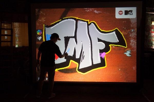 TMF graffiti vägg Belgien