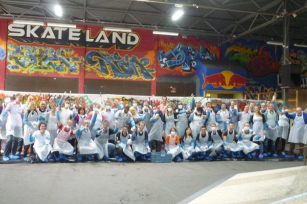 The graffiti workshop as a team outing Rotterdam