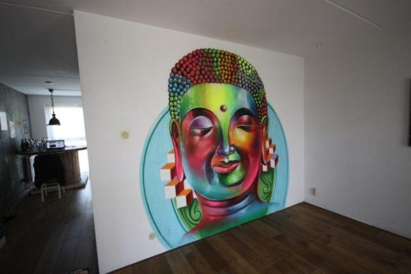 Peinture murale Fluor Budha