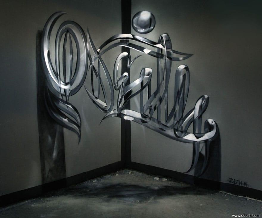 3D-graffiti dankzij optische illusies