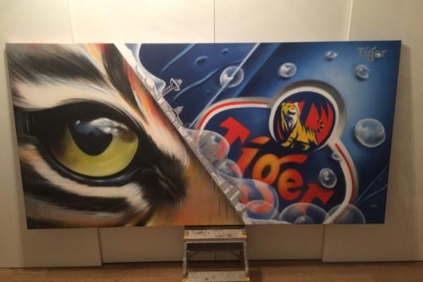 Oeuvre de graffiti pour Tiger