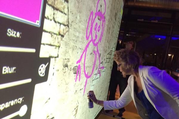 El graffiti digital como entretenimiento creativo en Rotterdam