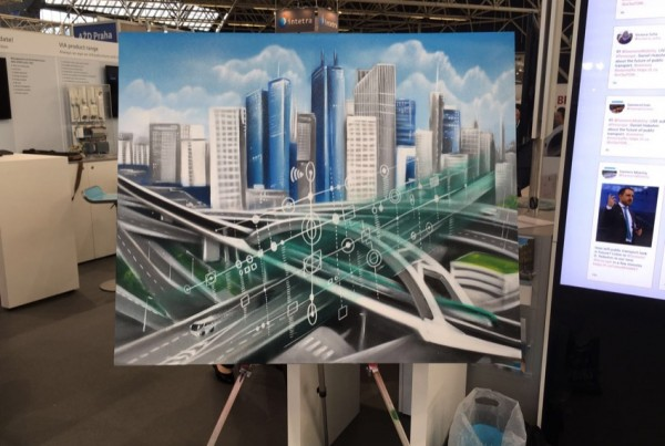 Graffiti painting for Siemens