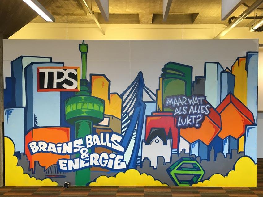 TPS Groep muurschildering