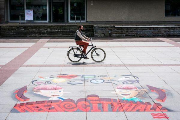 埃因霍温市3d街头画