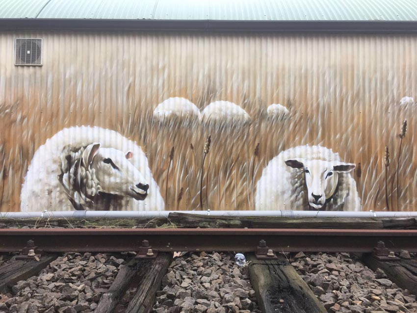 Prorail anti graffiti muurschildering