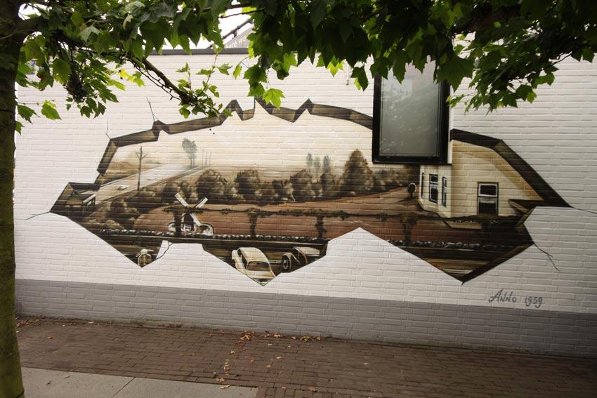 莱顿酒店壁画