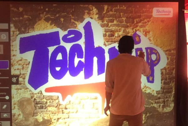 Technip digitale graffitiwall