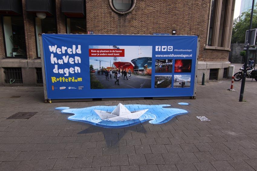 Wereldhavendagen 3d streetpaintings
