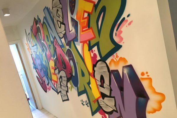 Graffiti schildering Antwerpen
