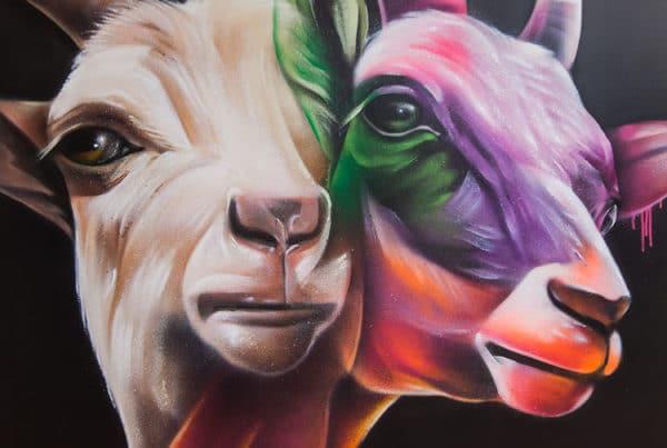 Graffiti schilderijen