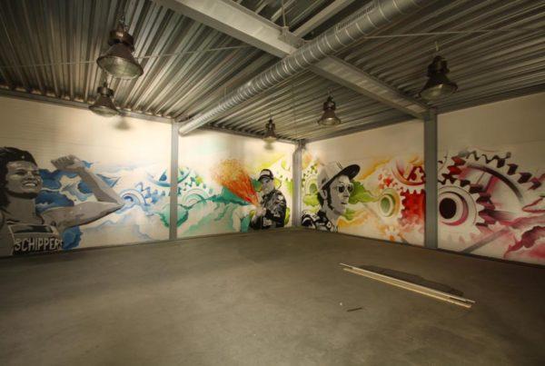 TTA muurschildering