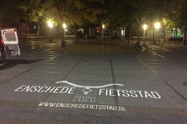 Municipality of Enschede chalk expressions