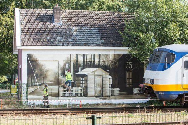 Muurschildering-Baarn