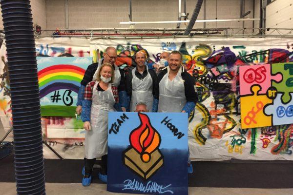 Politie Hoorn graffiti workshop