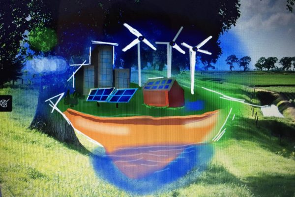 Demonstration von Infrastruktur und Umweltdigiffiti