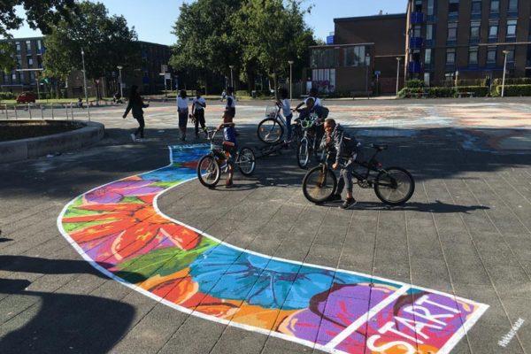 Servizio Sanitario Amsterdam dipinti di strada