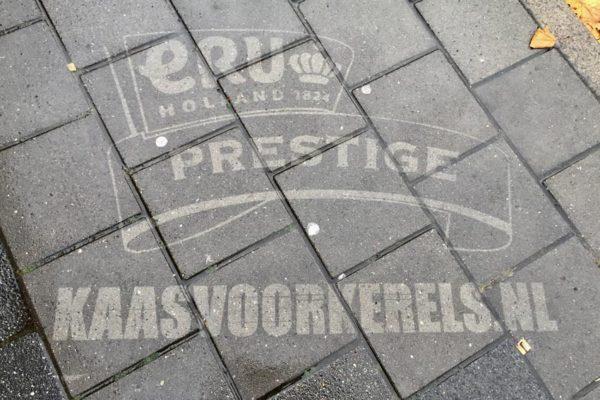 Koninklijke Eru reverse graffiti