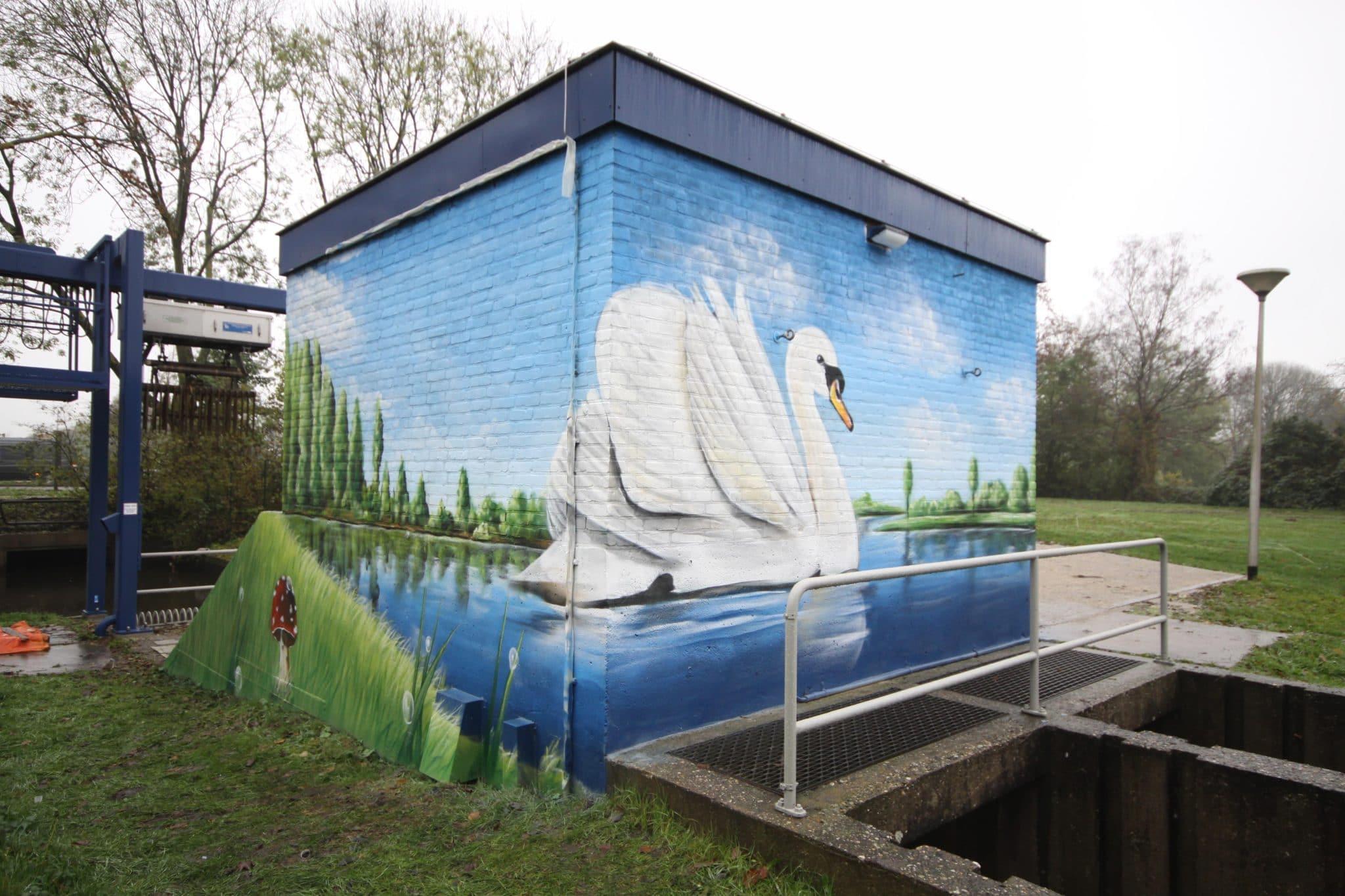 Modderkolk muurschildering