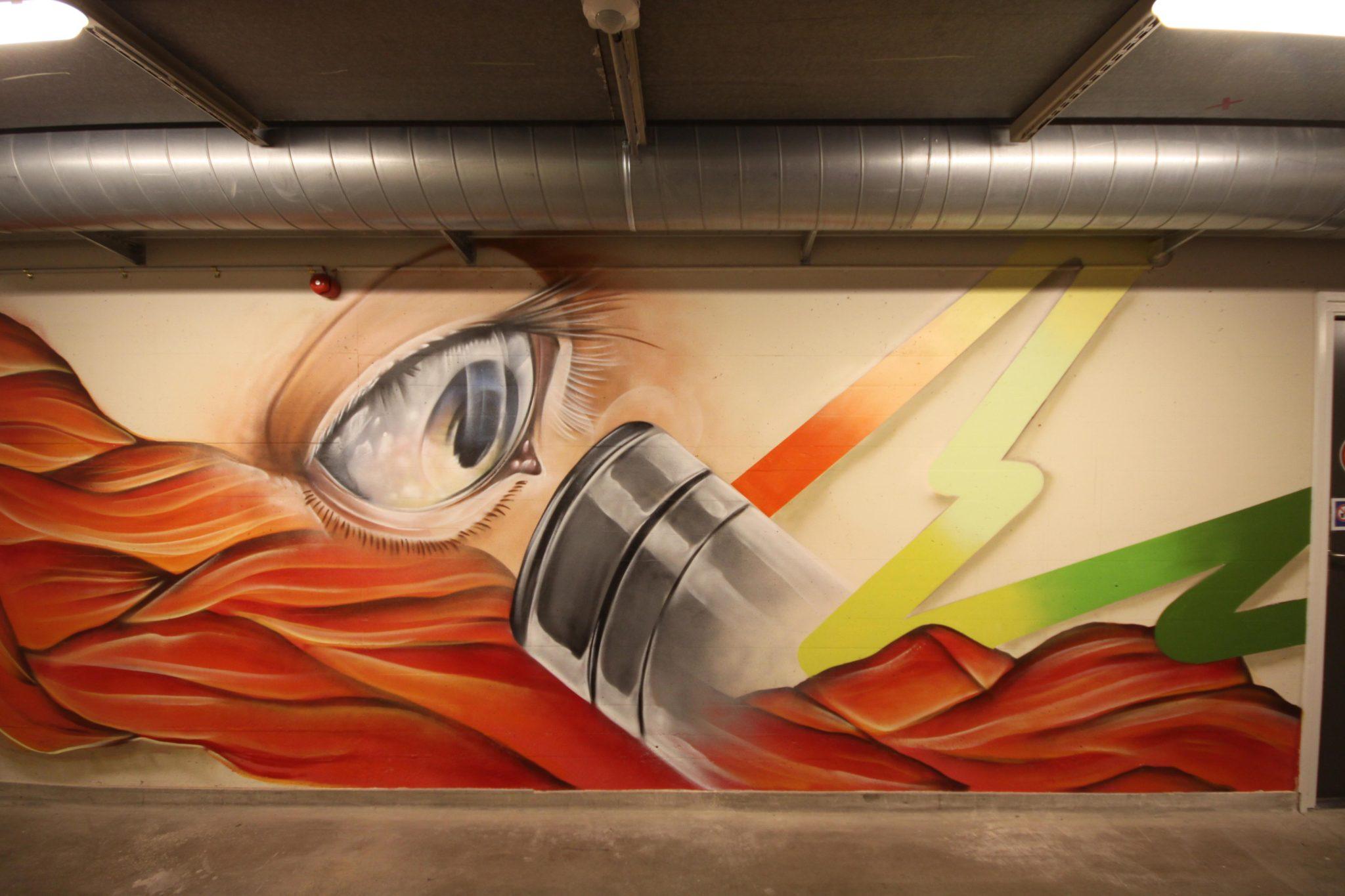 Radboud Universiteit muurschildering