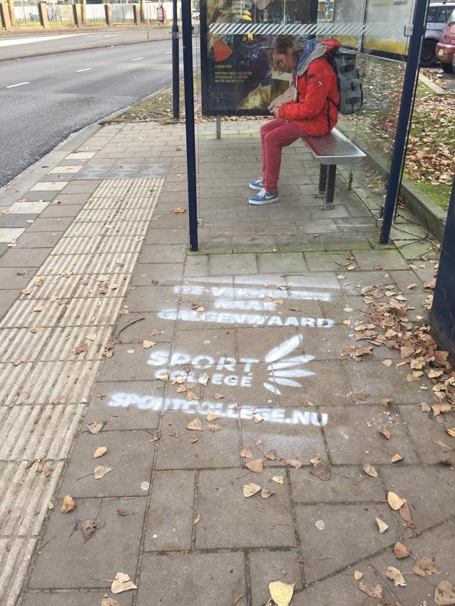 ROC Utrecht straatreclame