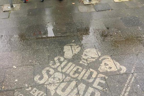 Suicide Squad reverse graffiti campagne