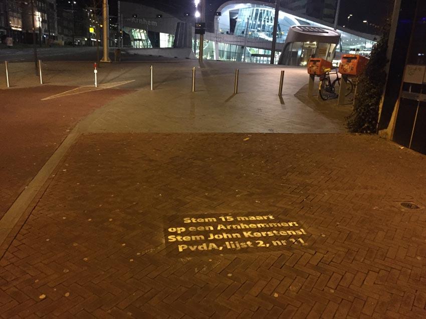 Straatreclame PvdA