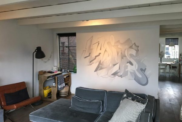 Salon mural graffiti