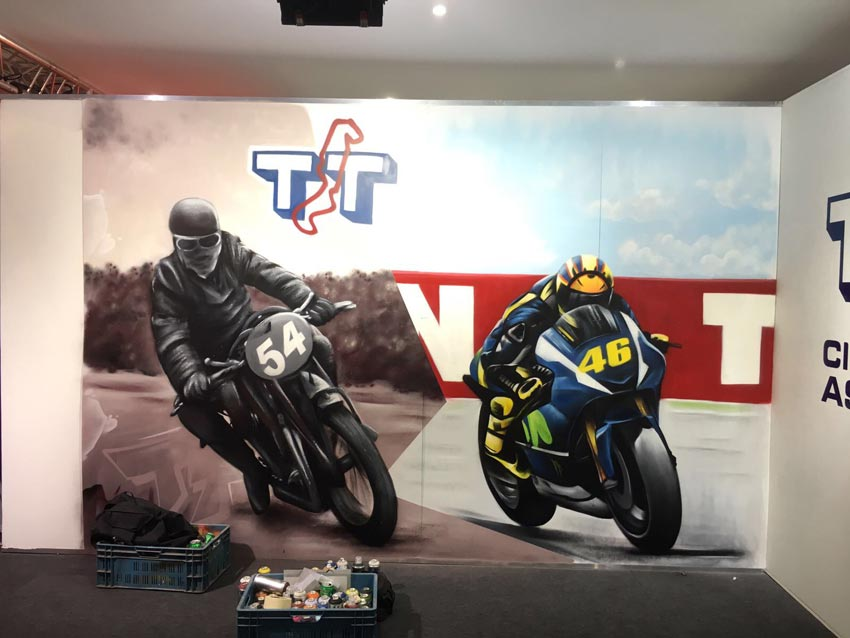 Motorbeurs live painting