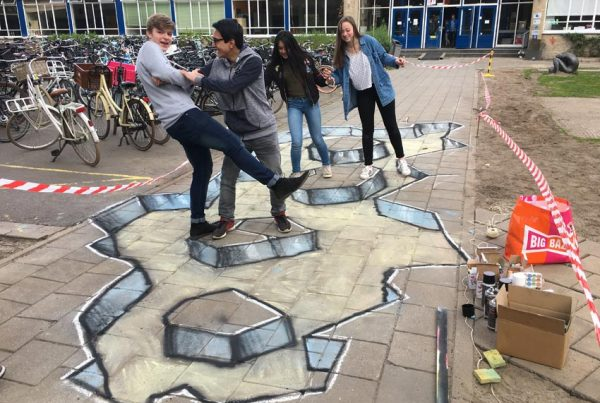 3d streetpainting workshop Revius Lyceum