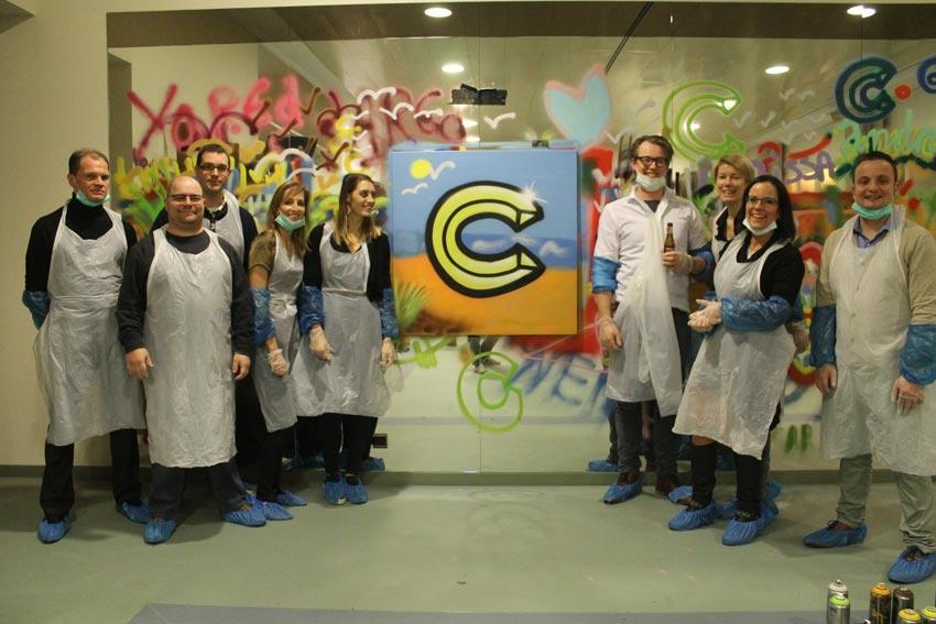 Graffitiworkshop C-HOTELS