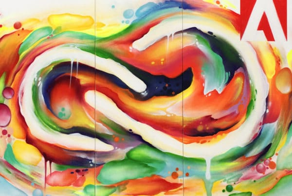Adobe graffiti art painting