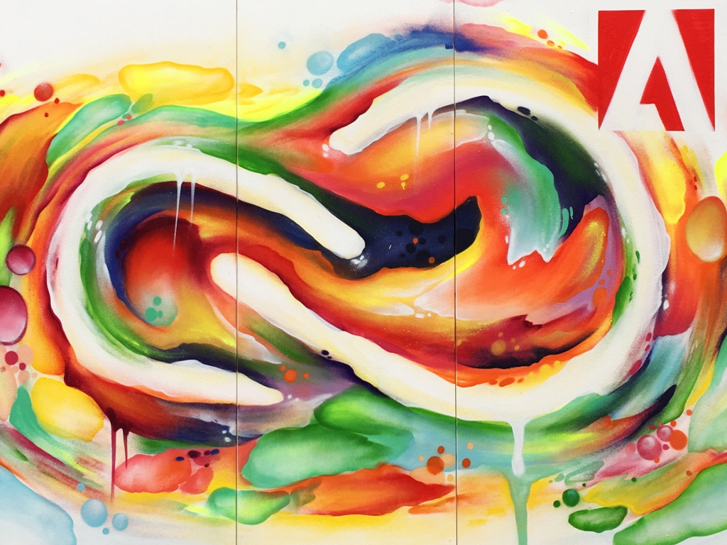 Adobe graffiti-art painting