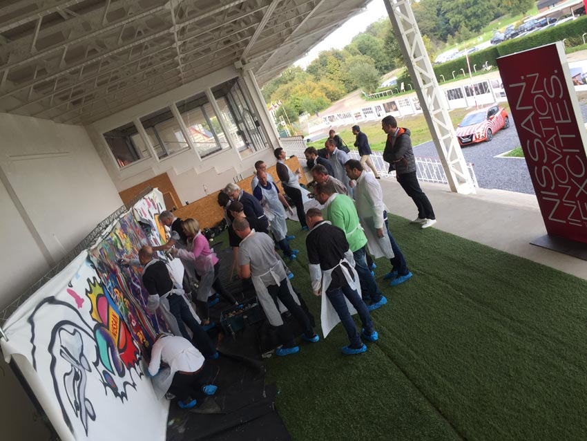 Workshops graffiti spuiten Nissan