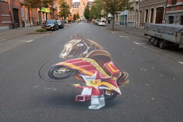 Gatan målning Dendermonde