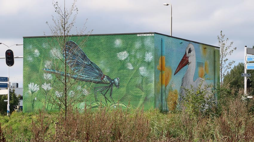 Anti-graffiti schildering Gemeente Rijswijk