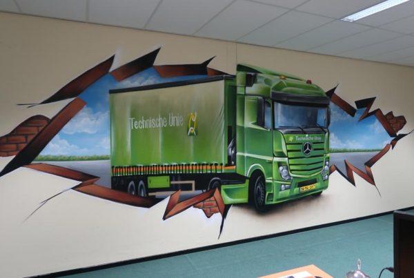 Wall painting Technische Unie