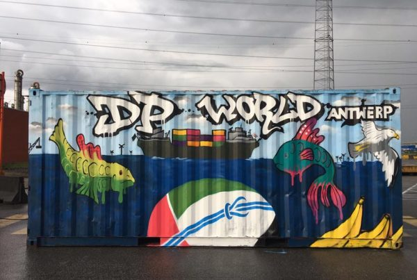 Graffitiworkshop DP World