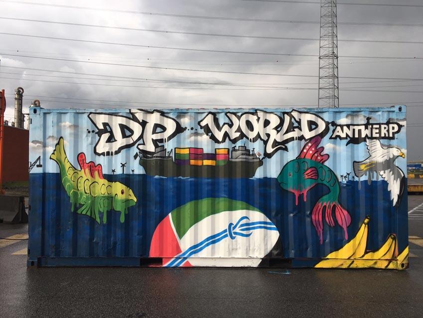 Graffitiworkshop DP World