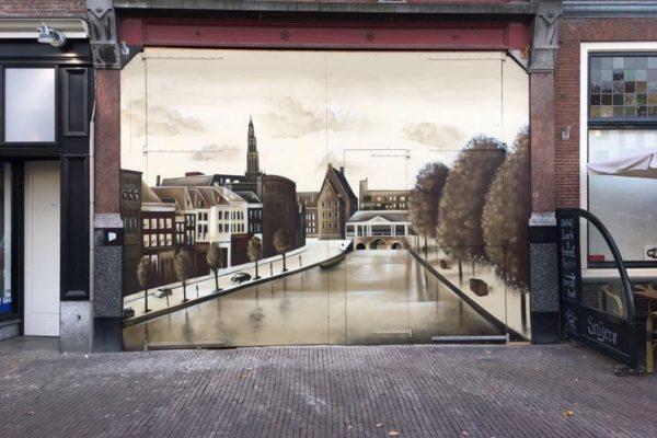 Väggmålning Leiden