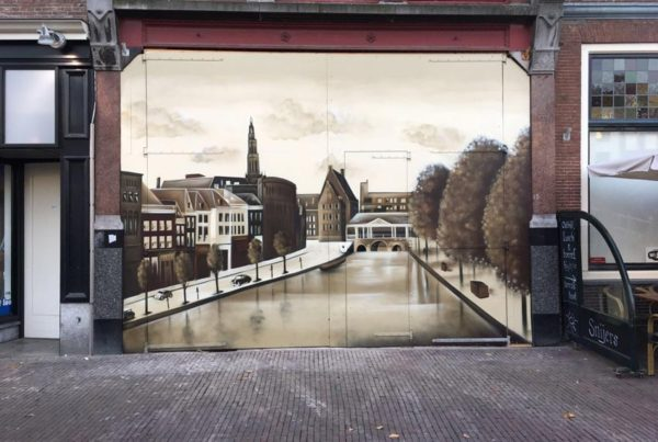 Wall painting Leiden
