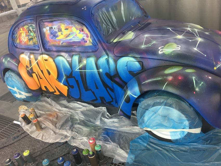 Street-art workshop Carglass
