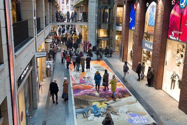 Straßenmalerei Entre-Deux