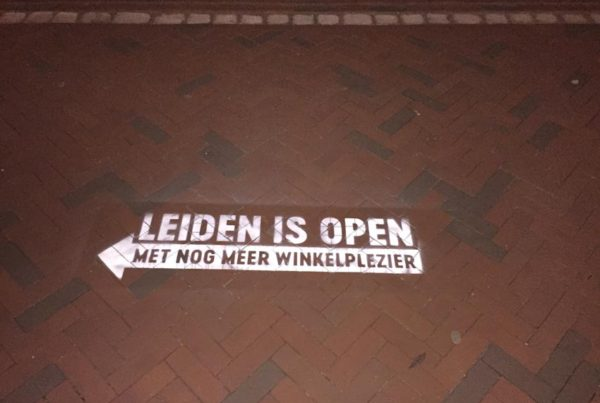 Street advertising Municipality of Leiden